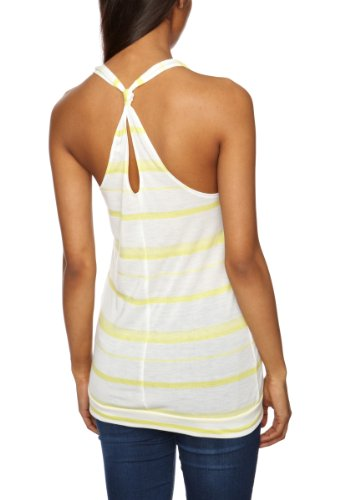 Roxy - Camiseta lisa para mujer Amarillo (Bright Yellow Irregular)