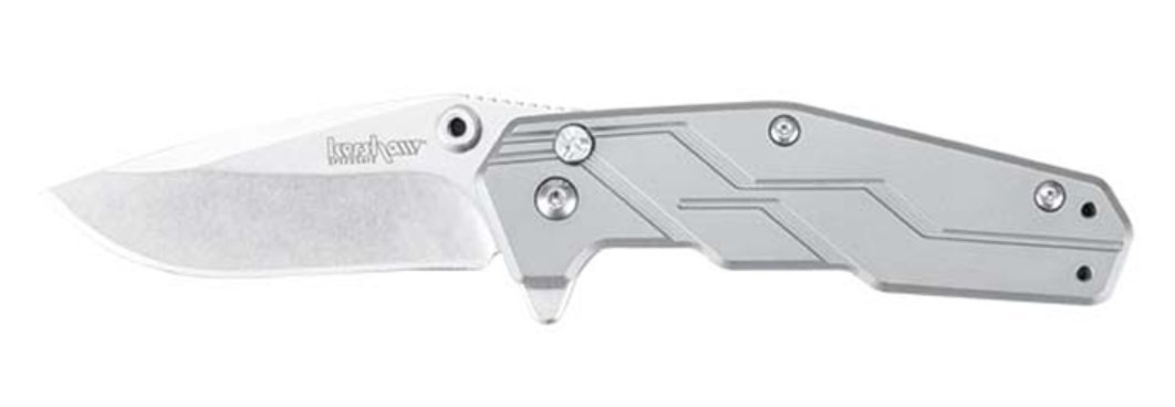 New Kershaw Steel Titanium Dimension SpeedSafe Assisted Opening Pocket Knife + Includes a Free Zombie Hunter Survival Knife