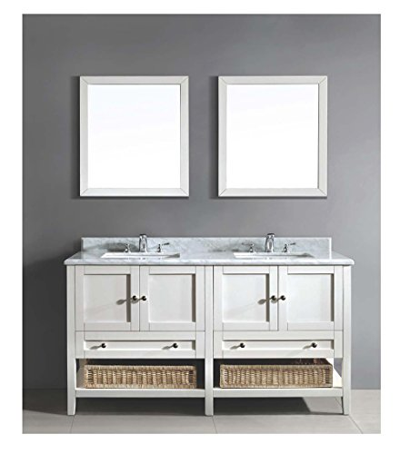 Dawn AACCS-6001 Vanity Set; Counter Top, Cabinet and 2 Mirrors
