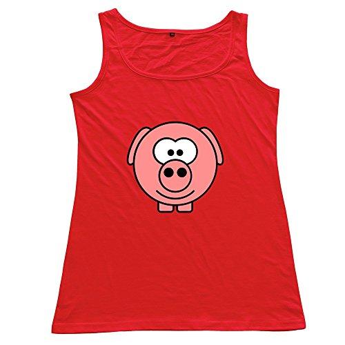 FACAI Women's Schwein 3c Cotton Tank Top Underwaist Red M