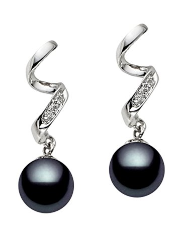 14k-White-Gold-AAA-Quality-Black-Akoya-Cultured-Pearl-Diamond-Dangle-Earrings