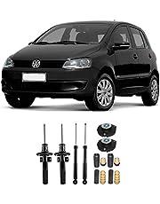 04 Amortecedores + 04 Kits Batentes VW Fox 2003 Até 2019 - Dianteiro e Traseiro