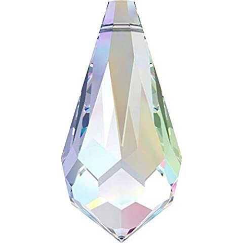 SWAROVSKI Crystal Teardrop Pendant 6000 11mm CRYSTAL AB Pack of 25 Genuine Supplied by SWAROVSKI - Ab Swarovski Crystal Drop Bead