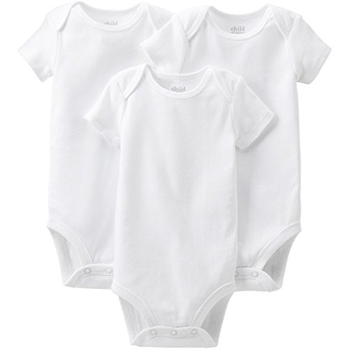 Child of mine by Carters Short Sleeve Bodysuits 3-Pack (6-12 Months)