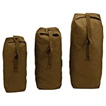 """Rothco Top Load Canvas Duffel Bag in Coyote Brown - 25"""" x 42"""""""
