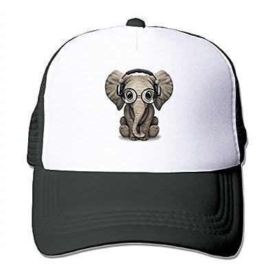 Lovely Elephant Adjustable Snapback Baseball Cap Custom Mesh Trucker Hat by Huishe1