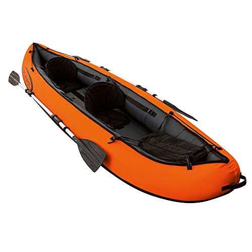 Dertyped Three Thick Fishing Boat Inflatable Boat Dinghy Assault Boat Skin Kayak Kayak Hovercraft Kayaks for Adults (Color : Orange, Size : 330x94cm)