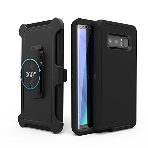 Aa Cell Holster - Samsung Galaxy Note 8 case,By eSellerBox,Heavy Duty Rugged Multi-Layer Hybrid With Kickstand Belt Clip Holster Cover for Samsung Note8 With Separate Screen Protector