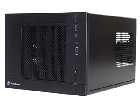 Silverstone Tek Plastic/SECC Mini-ITX Computer Case with 2x USB 3.0 Front Ports SFF Cases, Black SG05BB-LITE