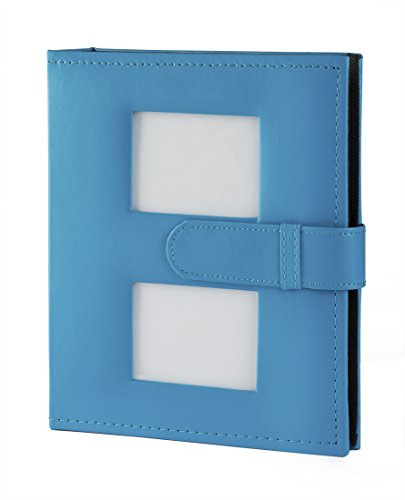 Facraft Baby Photo Album boy Holds 200 4x6'' Photos with Leatherette Cover (LakeBlue)
