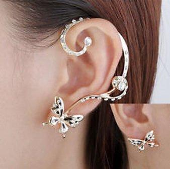 Pixel-Jewelry-1985-2PCS-Modish-Nice-Women-Butterfly-Ear-Cuff-Clip-Stud-Crystal-Rhinestone-Earrings