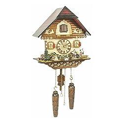Trenkle Uhren German Cuckoo Clock Quartz-movement Chalet-Style 13 inch - Authentic black forest cuckoo clock by