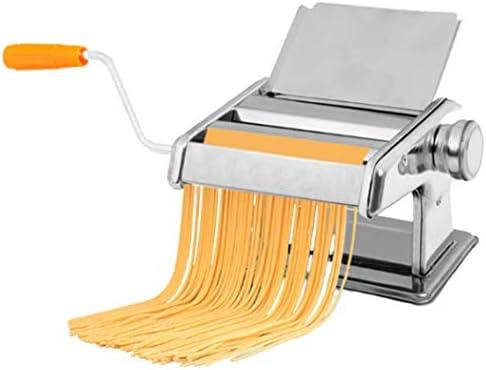 手動パスタメーカーマシンステンレスパスタスパゲティとラザニアタリアテッレフェットチーネ2ブレードマシンパン生地のローラーを作ります