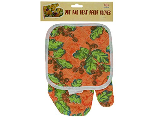 Quilted Floral & Fruit Print Oven Mitt & Pot Holder Set - Pack of 72 by bulk buys