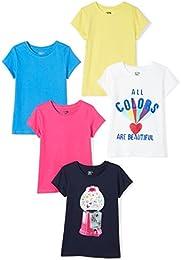 Girls 5-Pack Short-Sleeve T-Shirts