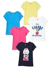 Spotted Zebra Girls 5-Pack Short-Sleeve T-Shirts
