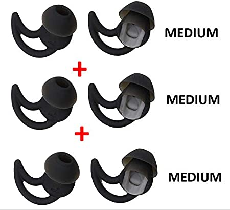 3X Pair for Bose Replacement Noise Isolation Silicone Earbuds Earplug Tips Cushion Cover Earpad Fit Bose QC20 QuiteControl 20 QC30 SIE2 IE3 SoundSport Wireless Headset Headphone Mixed L//M//S