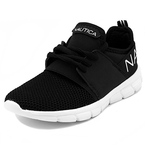 Big Kid Fashion Girls Nautica Black Shoes up Running Kids Up Sneaker Little On Kid Slip Lace Lace zUxwAqx8