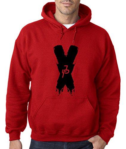 New Way 821 - Adult Hoodie Jake Paul X Team 10 Unisex Pullover Sweatshirt 2XL Red