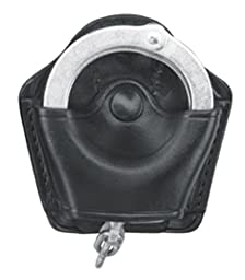 Gould & Goodrich B840 Gold Line Handcuff Case With Belt Loop (Black) Holds most chain or hinged cuffs.