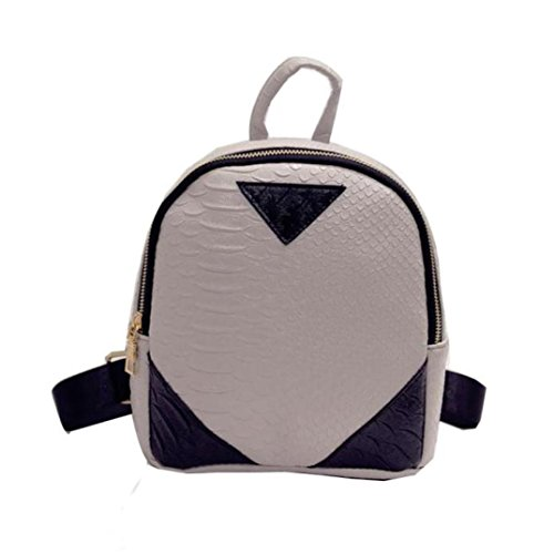 Small Fahsion for Teen Shoulder Bag Backpack Women Zipper Gray Sumen Travel Girls O7BECCwq