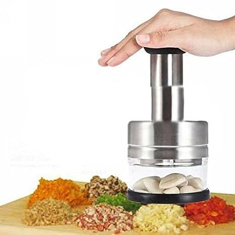 Compra Gearmax® Acero inoxidable vegetal ajo cebolla picador rebanador cortador en Amazon.es