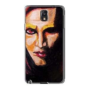 CristinaKlengenberg Samsung Galaxy Note3 Shock-Absorbing Hard Cell-phone Case Allow Personal Design HD Marilyn Manson Band Skin [jvj3611JANQ]