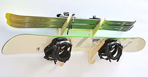 Snowboard Ski Hanging Wall Rack Holds 2 Boards