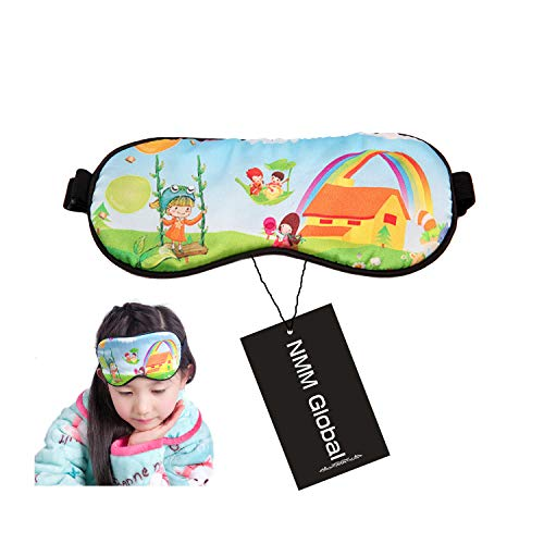 (NMM Global 100% Mulberry Silk Sleep Mask, Natural Sleeping Mask for Boy Girl Kids, Super Soft Eye Mask for Sleeping with Free Ear Plugs (CHILD))