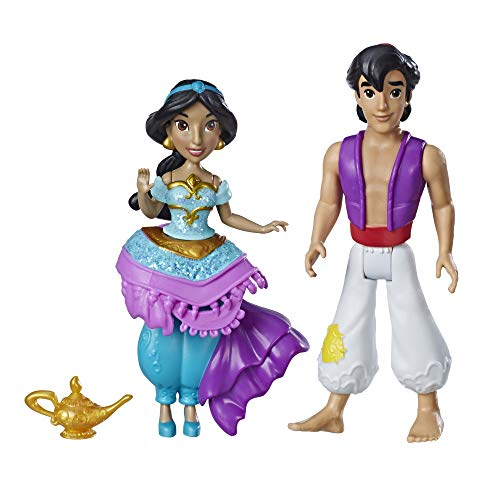 Disney Princess Jasmine & Aladdin, 2 Dolls, Royal Clips Fashion, One-Clip Skirt -