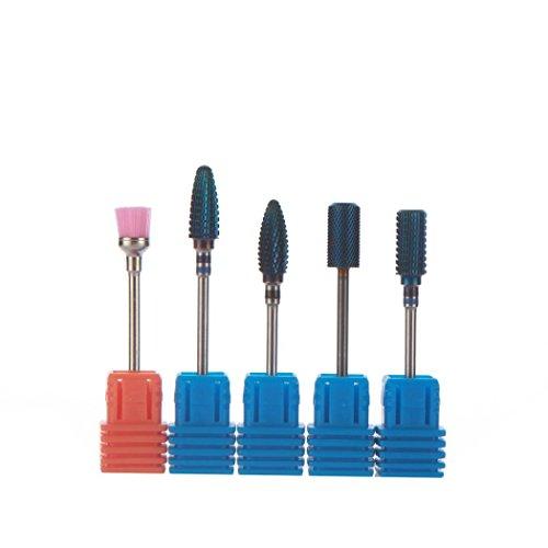 DDLBiz 5PC Nano Coated Carbide Gel Remove Polishing Nail Drill Bit Nail Art Tool by DDLBiz