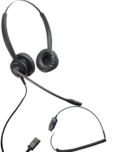 Avaya Phone Compatible XS 825 Ultra Noise Canceling Headset with Mute | Avaya IP Phones: 1608, 1616, 9601, 9608, 9610, 9611, 9611G, 9620, 9620C, 9620L, 9621, 9630, 9640, 9640G, 9641, 9650, 9650C, 9670 (Ultra Cancelling Headset Noise)