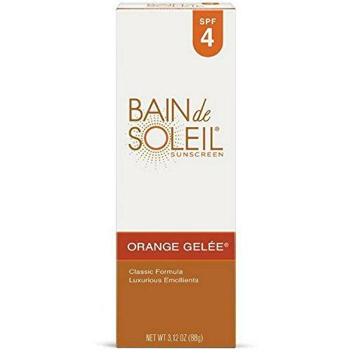 Bain de Soleil Orange Gelee Sunscreen, SPF 4 3.12 oz (Pack of 4)
