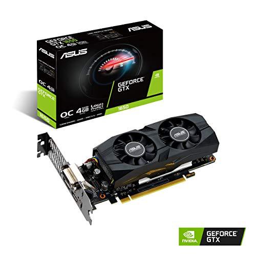 ASUS GeForce GTX 1650 OC (4 GB, GDDR5/PCI Express 3.0/1485 MHz, 1740 MHz, 8002 MHz, Low Profile) GTX1650-O4G-LP-BRK
