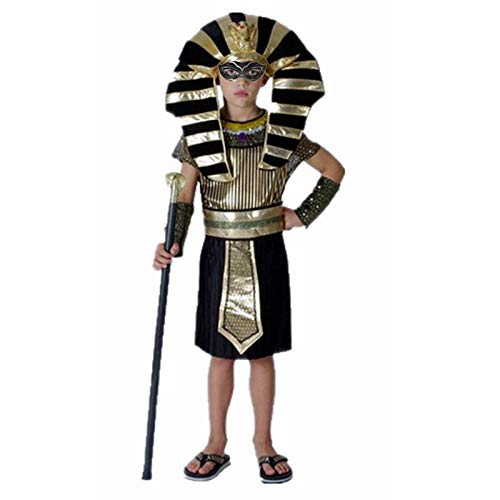 Party Diy Decorations - Halloween Costumes Boy Girl Ancient Egypt Egyptian Pharaoh Cleopatra Prince Princess Costume - Cleopatra Queen Girl And Fire Jewelry Egypt Wolf Statue Ancient]()
