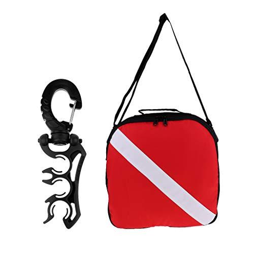 D DOLITY Premium Dive Flag Regulator Bag, Hose Retainer & for Scuba Diving - Regulator Akona Bag