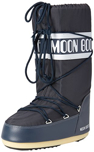 Moon Boot Unisex Adults Tecnica Nylon Winter Waterproof Knee Boot - Blue Jeans - 9-10.5 Mens by Moon Boot