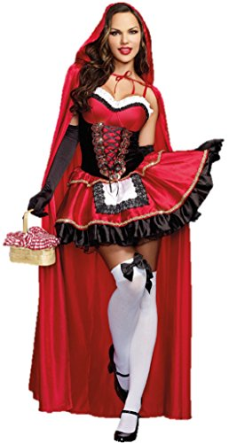 ShonanCos Little Red Riding Hood Costume Princess Dress (Art Attack Crafts Halloween)