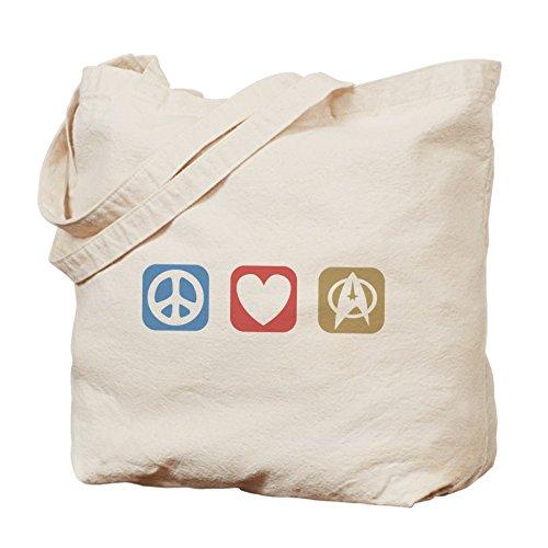 CafePress diseño de símbolo de la Paz Love Star Trek–Gamuza de bolsa de lona bolsa, bolsa de la compra