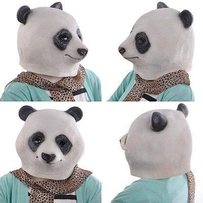Party Masks - 2015 Arrival Panda Head Mask Creepy Halloween Costume Theater Prop Novelty - Mask Panda Head Adult Party Masks Mask Panda Funny Unicorn Blank Frog Footboard Jean Basquiat Head Ho