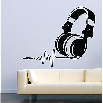 Music Wall Decals Cool Headphones Music Decor Stickers Vinyl MK0812 Part 90