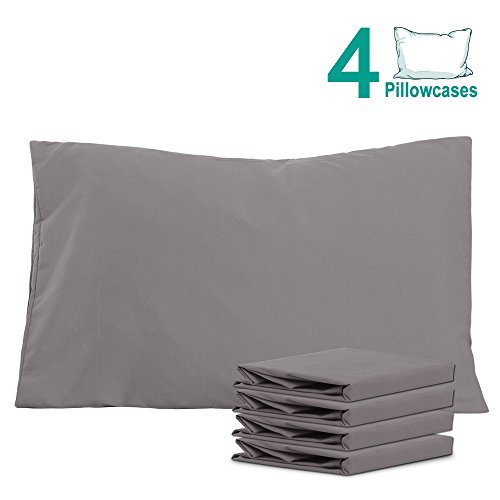 NTBAY 100% Brushed Microfiber Pillowcases Set of 4, Soft and