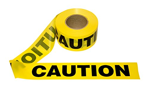 (Cordova Safety Products Pro Pack Caution Barricade Tape - Set of 12 Rolls - Each Roll Measures 3