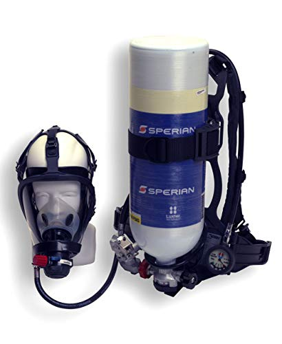 Honeywell 888888 Cougar 2216 psig Industrial Self Contained Breathing Apparatus with Alarm, Cylinder, Face Piece and 30 Minute Aluminum Cylinder, English, 30.68 fl. oz, Plastic, 1 x 1 x 1