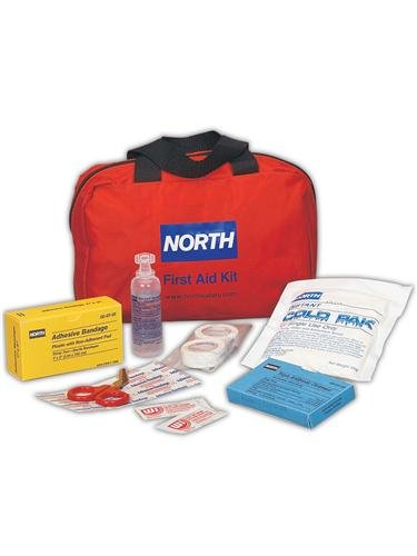 Honeywell 018501-4221 North by Redi-Care 6'' x 8 3/4'' x 2 3/4'' Red Nylon Portable Mount Medium 10 Person Responder First Aid Kit, English, 15.34 fl. oz, Plastic, 6