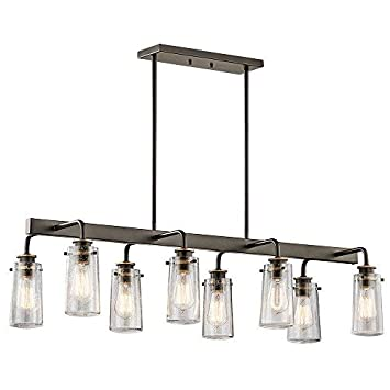 Kichler 43457OZ Braelyn Chandelier, 8 Light Incandescent 480 Total Watts, Olde Bronze