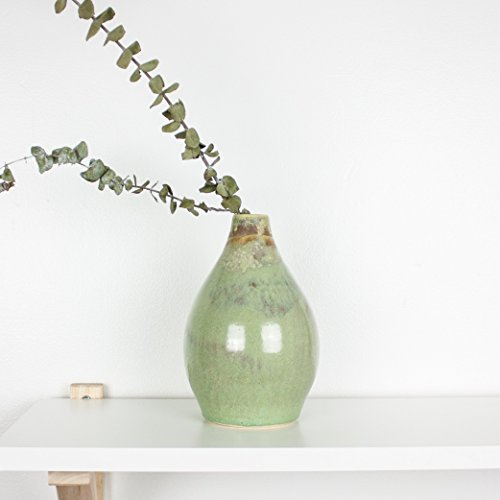 Sage Green Drop Vase by Barombi Studios (Sage Green Glazed)