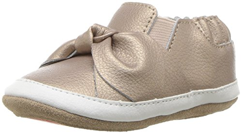 Robeez Bows - Robeez Girls' Low Top Sneaker-Mini Shoez Crib Shoe, bella's Bow - Gold, 6-9 Months M US Infant