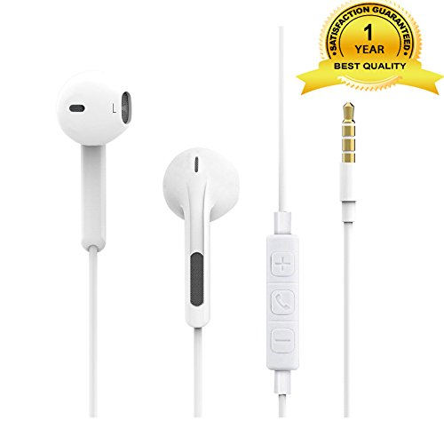 Earbuds, Goltron In-Ear Wired Earphones Built-in Mic Volume Control Noise Isolating for iPhone6S 6 5s 5 4 4s plus Android iPad Samsung Galaxy S8 S7 S6 S5 S4 Note 8 4 3,3.5mm Audio Jack