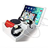 Best Valets For Watch Jewelries - Artsay Multiple Device Charging Station Organizer Valet Tray Review